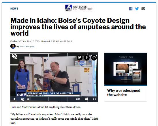 KIVI Made in Idaho Story on Coyote