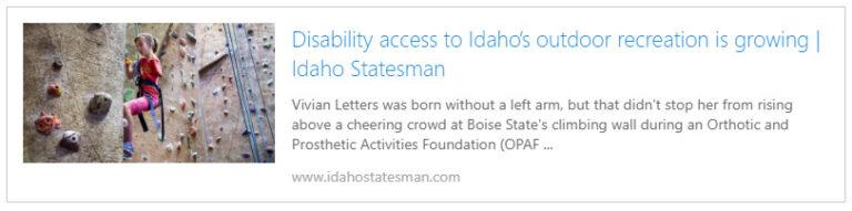 Idaho Statesman Story on OPAF
